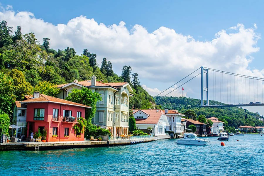 Bosphorus and Bridge
